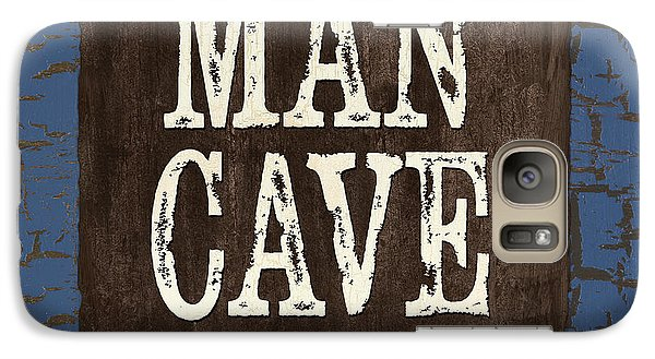 Man Cave Enter At Your Own Risk Galaxy Case by Debbie DeWitt
