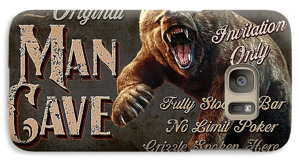 Galaxy Case featuring the painting Man Cave Grizzly by JQ Licensing