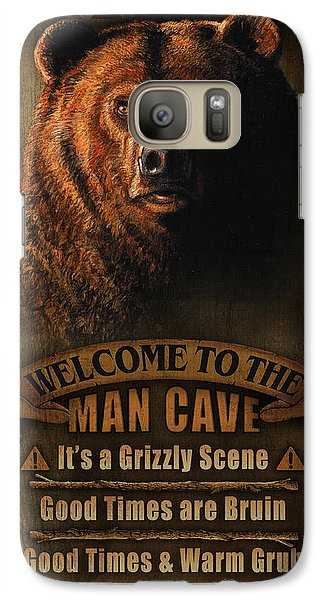 Turkey Galaxy S7 Case - Man Cave Grizzly by JQ Licensing