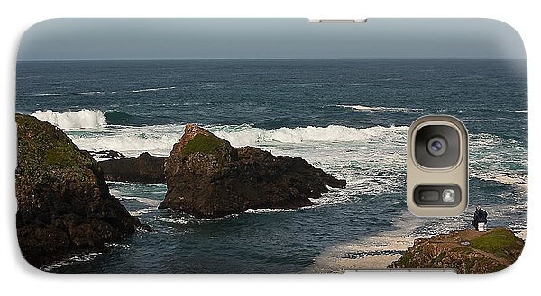 Galaxy Case featuring the photograph Man Fishing by Brian Williamson