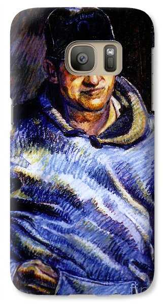 Galaxy Case featuring the pastel Man In Barn by Stan Esson