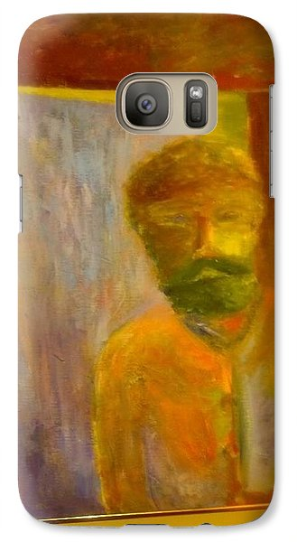 Galaxy Case featuring the painting Man In Front Of The Door by Richard Benson