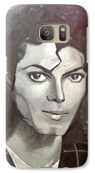 Galaxy Case featuring the painting Man In The Mirror by Belinda Low