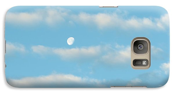 Galaxy Case featuring the photograph Man In The Moon In The Clouds by Fortunate Findings Shirley Dickerson