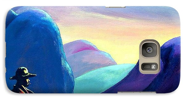 Galaxy Case featuring the painting Man Meditating by Susan DeLain