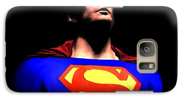Galaxy Case featuring the painting Man Of Steel by Jeff DOttavio