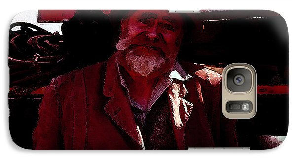 Galaxy Case featuring the digital art Man Of The Sea by Cathy Anderson