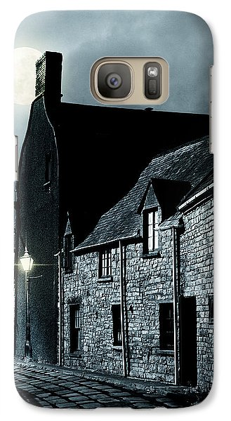Galaxy Case featuring the photograph Man Standing In Old Street by Ethiriel  Photography