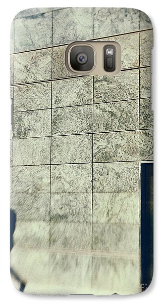 Galaxy Case featuring the photograph Man With Cell Phone by Silvia Ganora