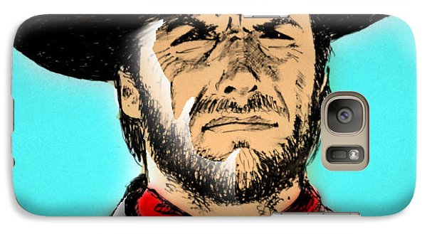 Galaxy Case featuring the mixed media Clint Eastwood by Salman Ravish