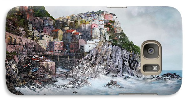 Galaxy Case featuring the painting Manarola Italy by Jean Walker