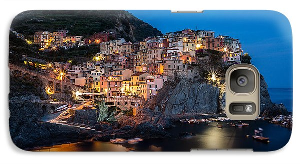 Galaxy Case featuring the photograph Manarola by Mihai Andritoiu