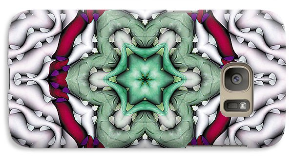 Galaxy Case featuring the photograph Mandala 7 by Terry Reynoldson