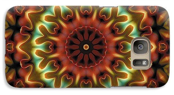 Galaxy Case featuring the digital art Mandala 71 by Terry Reynoldson