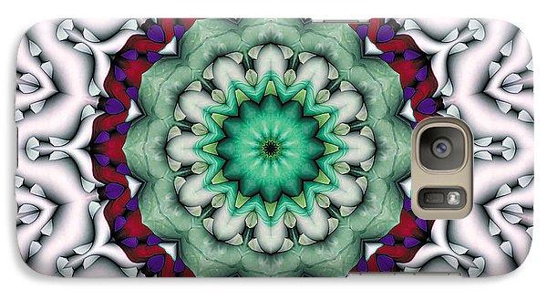 Galaxy Case featuring the digital art Mandala 8 by Terry Reynoldson