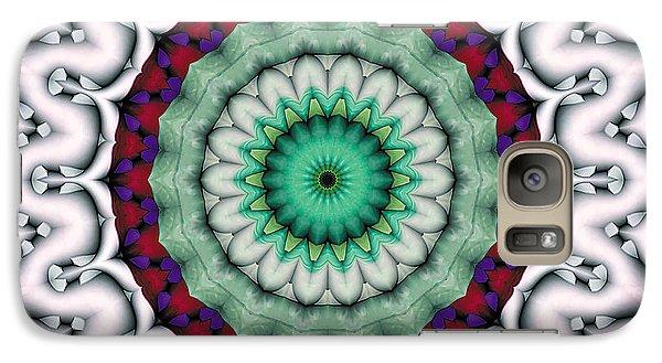 Galaxy Case featuring the digital art Mandala 9 by Terry Reynoldson