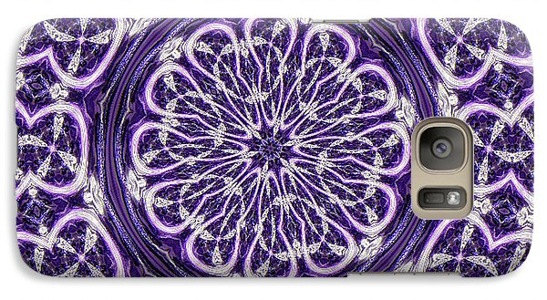 Galaxy Case featuring the photograph Mandala by Linda Weinstock