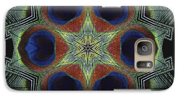 Galaxy Case featuring the digital art Mandala Peacock  by Nancy Griswold