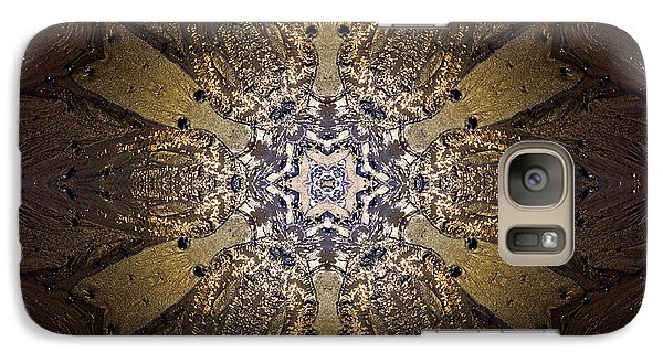Galaxy Case featuring the photograph Mandala Sand Dollar At Wells by Nancy Griswold