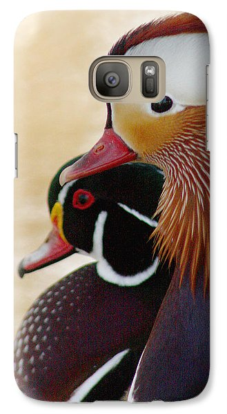 Galaxy Case featuring the photograph Mandarin Duck And Wood Duck by Bob and Jan Shriner