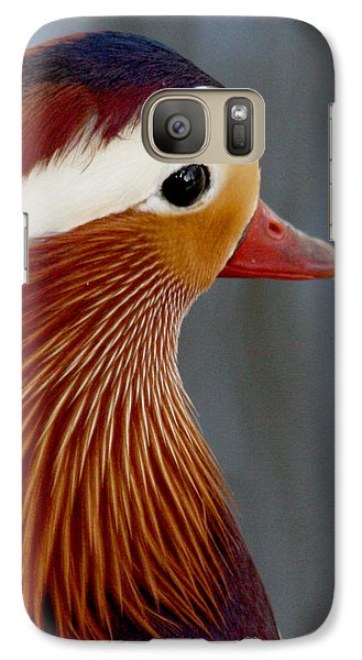 Galaxy Case featuring the photograph Mandarin Duck by Bob and Jan Shriner
