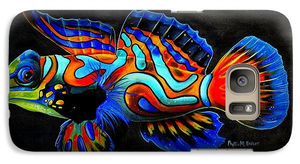 Galaxy Case featuring the painting Mandarin Fish by Phyllis Beiser