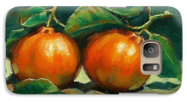 Galaxy Case featuring the painting Bush Mandarins by Margaret Stockdale