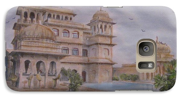 Galaxy Case featuring the painting Mandawa Hotel by Vikram Singh