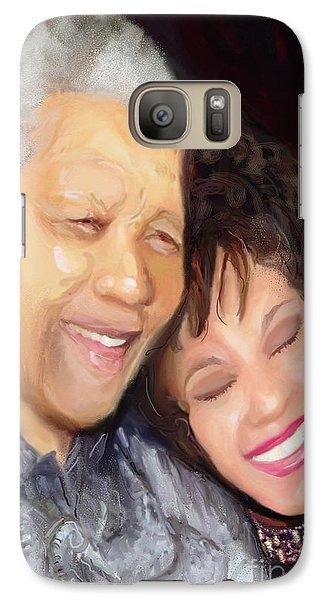 Galaxy Case featuring the painting Mandela And Whitney by Vannetta Ferguson