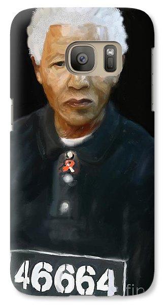 Galaxy Case featuring the digital art Mandela by Vannetta Ferguson