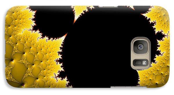Mandelbrot Set Black And Yellow Fractal Art Galaxy S7 Case