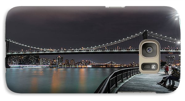 Times Square Galaxy S7 Case - Manhattan Bridge - New York - Usa 2 by Larry Marshall