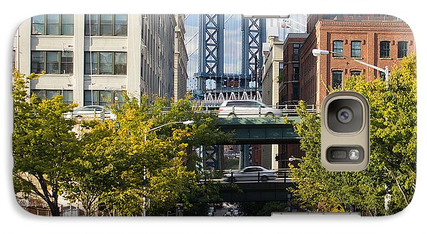 Galaxy Case featuring the photograph Manhattan Bridge From Dumbo by Jose Oquendo