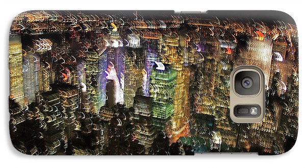 Galaxy Case featuring the photograph Manhattan Skyline Empire State Wobbles by Andy Prendy