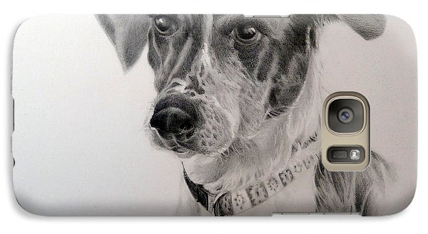 Galaxy Case featuring the drawing Man's Best Friend by Lori Ippolito