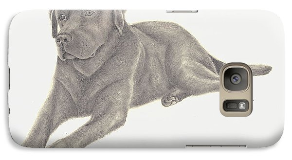 Galaxy Case featuring the drawing Man's Best Friend by Patricia Hiltz
