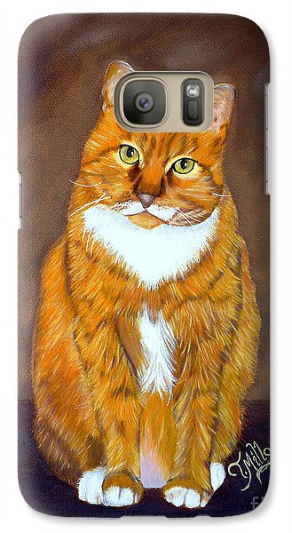 Galaxy Case featuring the painting Manx Cat by Terri Mills