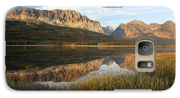 Galaxy Case featuring the photograph Many Glacier Reflections by Jack Bell