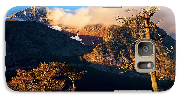 Galaxy Case featuring the photograph Many Glacier Tree by Aaron Whittemore