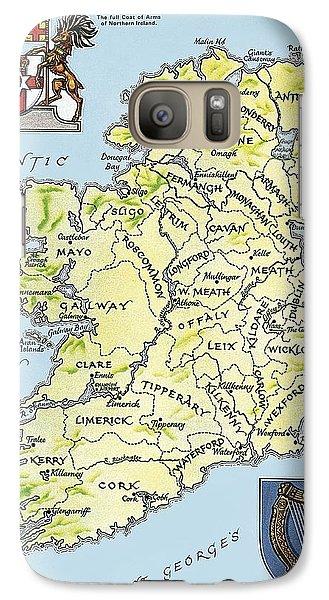 Map Of Ireland Galaxy Case by English School