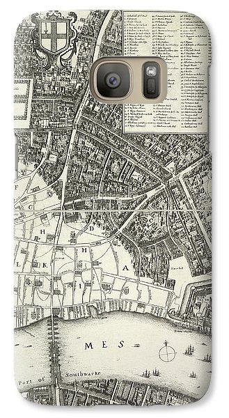 Map Of London Galaxy S7 Case by British Library