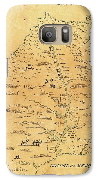 Marquette Galaxy S7 Case - Map Of The Mississippi River by Library Of Congress, Geography And Map Division