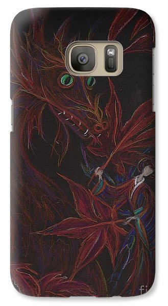 Galaxy Case featuring the drawing Maple Fan by Dawn Fairies