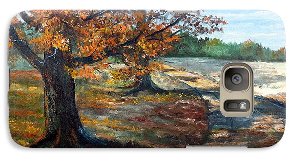 Galaxy Case featuring the painting Maple Lane by Lee Piper