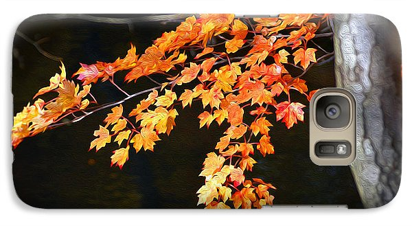 Galaxy Case featuring the photograph Maple Leaves by Yue Wang