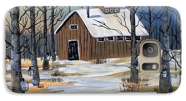 Galaxy Case featuring the painting Maple Syrup Shack by Brenda Brown
