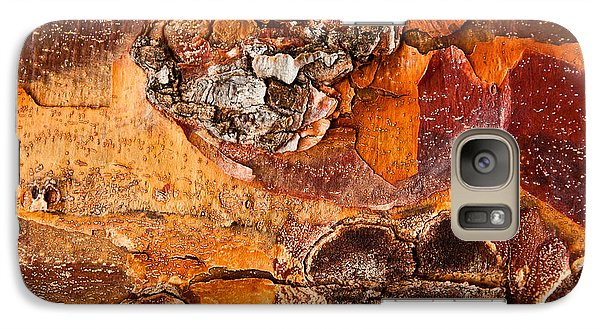 Galaxy Case featuring the photograph Maple Tree Bark by Crystal Hoeveler
