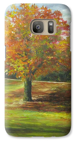 Galaxy Case featuring the painting Maple Tree by Gloria Turner