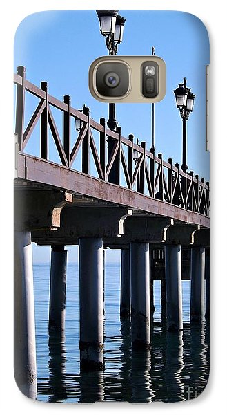 Galaxy Case featuring the photograph Marbella Pier Spain by Clare Bevan