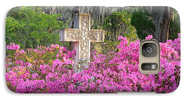 Galaxy Case featuring the photograph Marble Cross And Azaleas by Bradford Martin